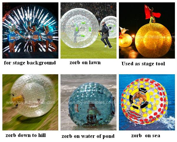 Hottest commercial inflatable snow zorb ball