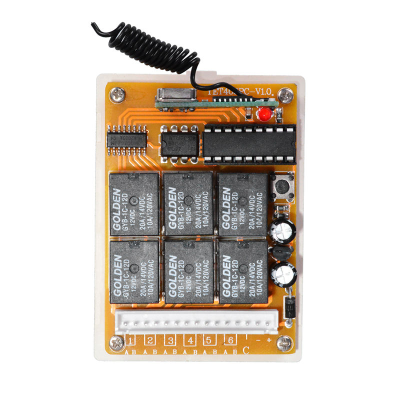 Wireless Intellect Six Relays/Channel Remote Controller yet406pc-v1.0