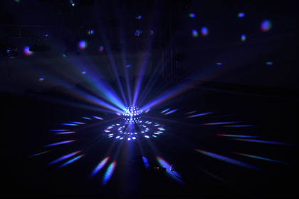 Moving-head disco mirror ball led effect lighting