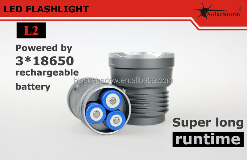 High light Aluminum alloy 5*U2 led waterproof U2 rehcargeable 2800 7w led flashlight