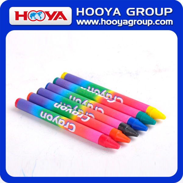 8*90mm wholesale cheap sattionery Eco-friendly multi color Crayon