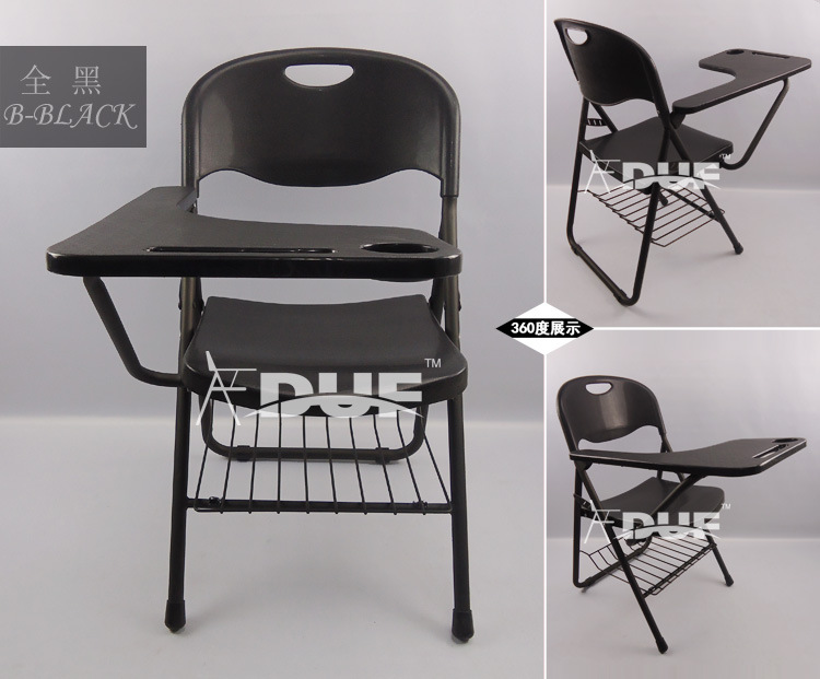 Folding Chair Desk student chair with writing pad folding school chair desk school