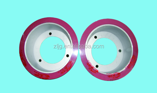 rubber roll for rice mill machine aluminum drum