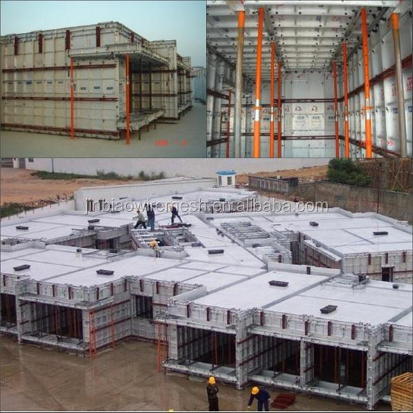100% Recyclab aluminium formwork with fast assembled