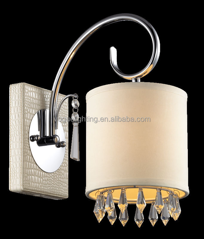 Crystal +leather fabric shade pendant lamp 6L SD8348-6A