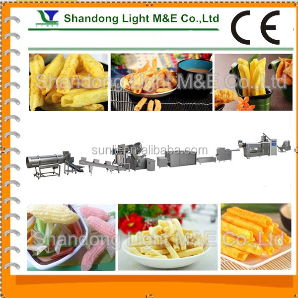 Automatic Fried Flour Bugle/Chips Snacks Pellets Food Machine