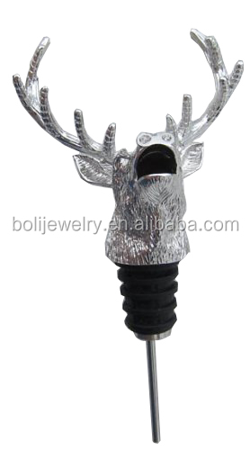 New Zinc alloy Wine Pourer Dumping with Bottle Stopper Function bar tool