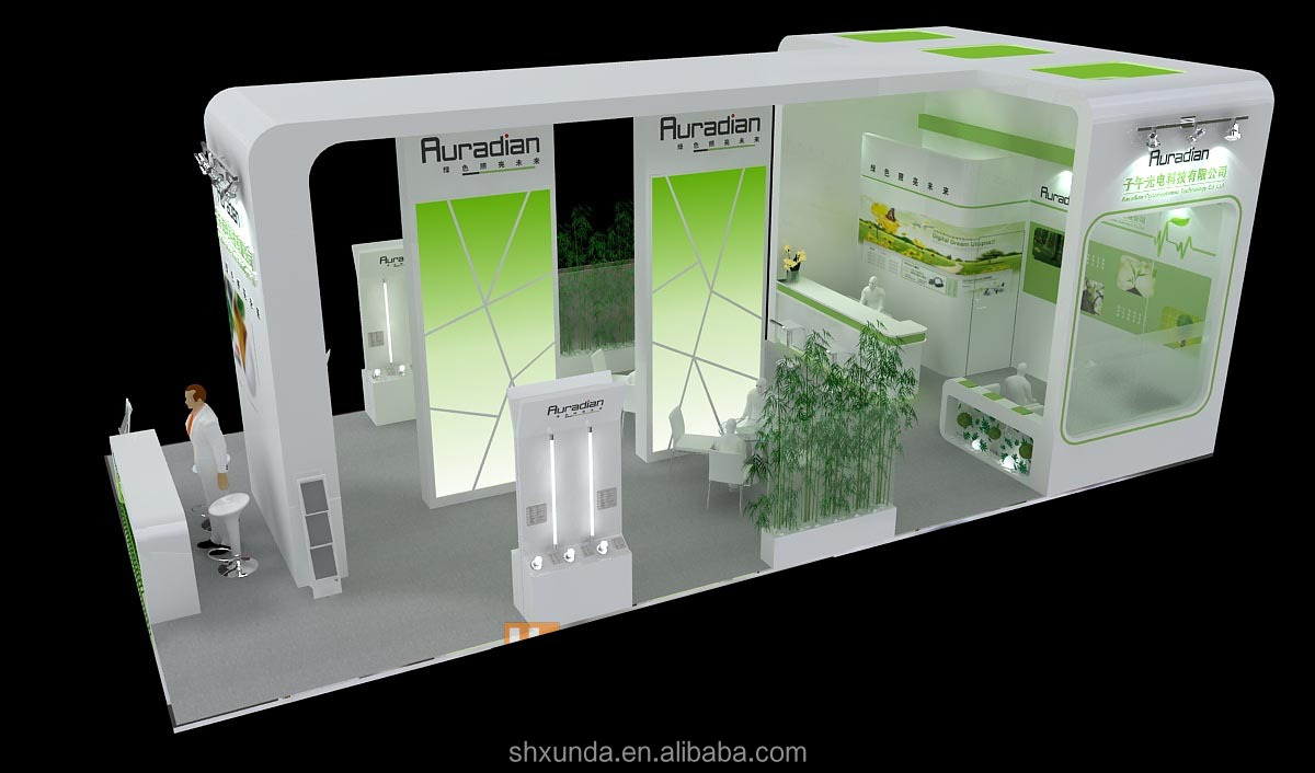 Simple Exhibition Stall : Simple but elegant exhibition booth view