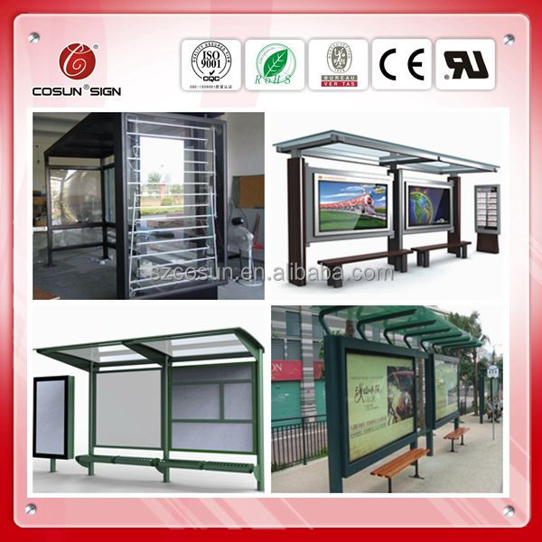 used beautiful simple and strong perfabricated solar bus stop shelter