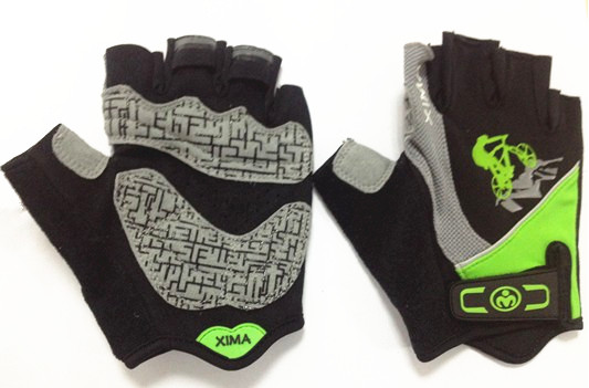 Breathable Sshort finger cycling gloves Leather Mountain Bike Glove