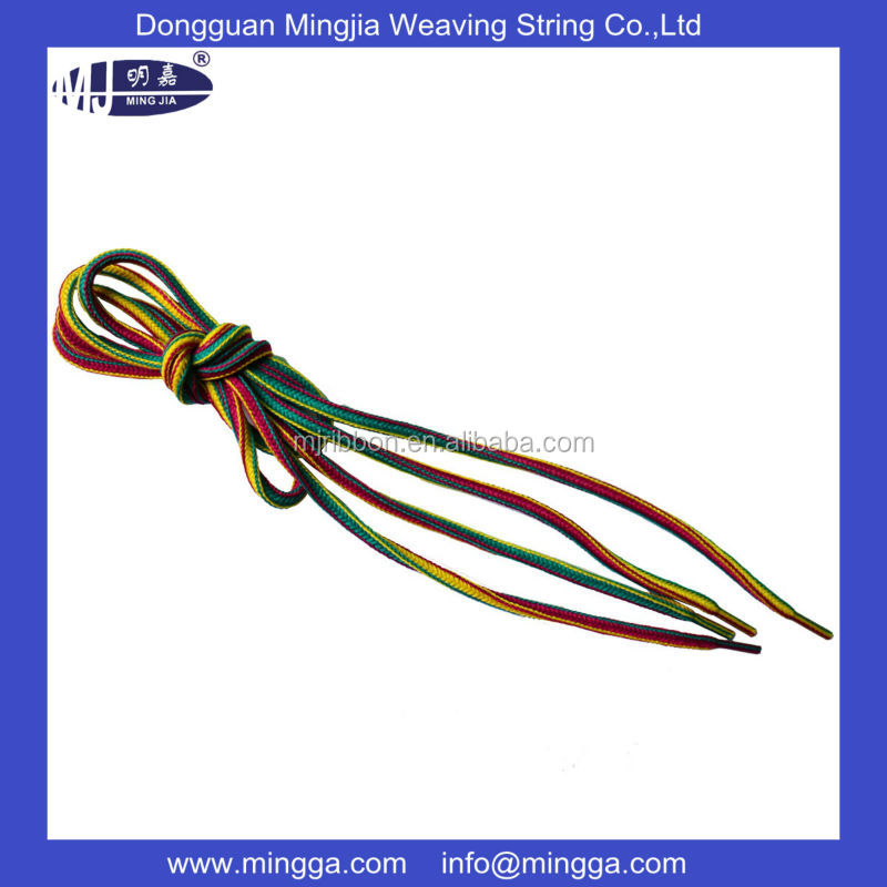 2015 New design high quality round shoe laces for wholesale