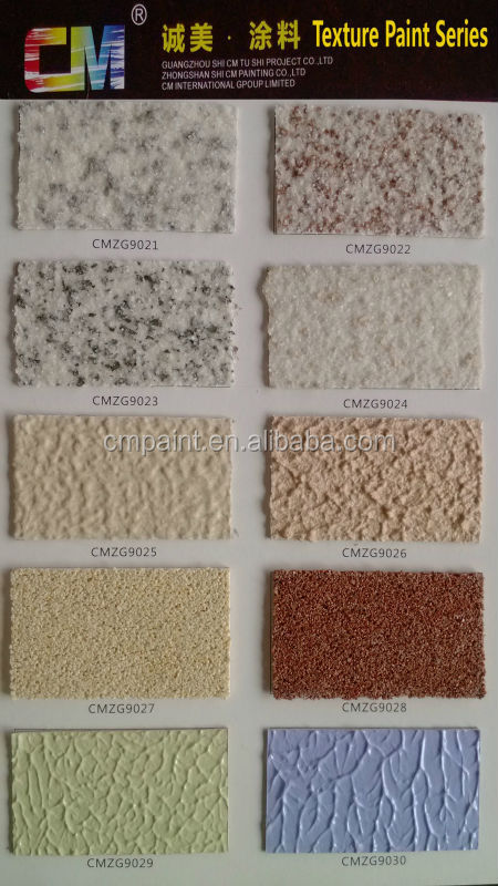 CMZS-47 Multi-color acrylic waterproof natural texture stone interior & exterior wall paint granite texture