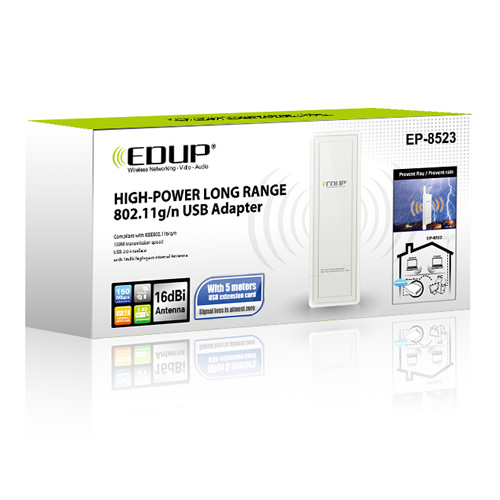 Outdoor Waterproof EDUP EP-MS8523 High Power USB Wireless WiFi Adapter