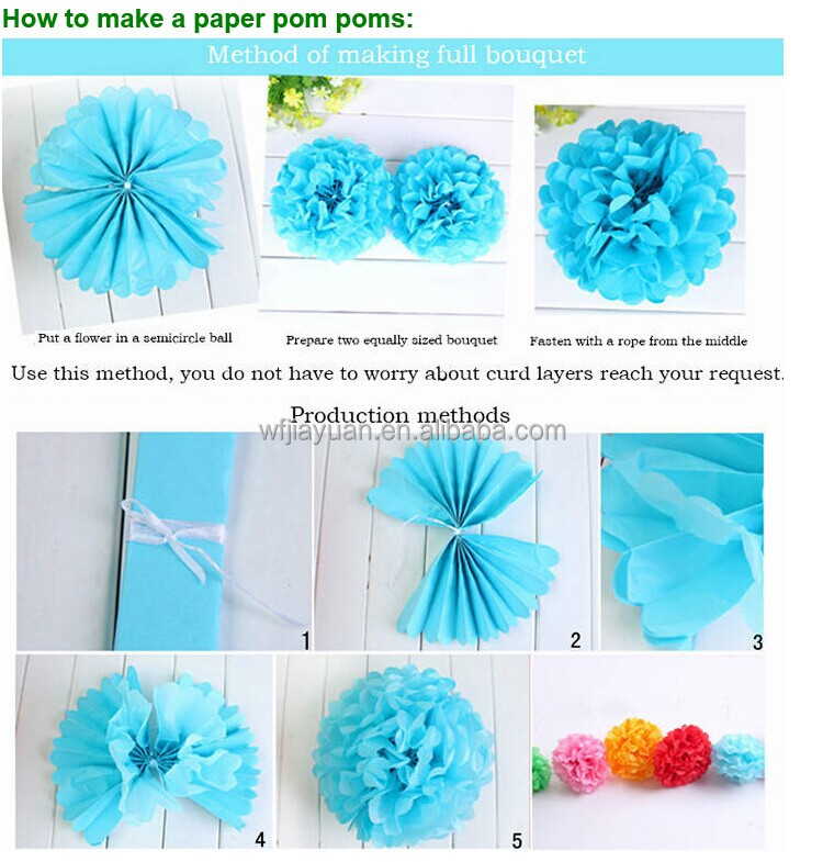 Tissue paper flower balls instructions mightylinksfo