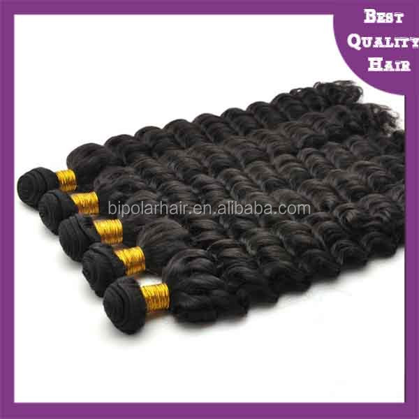 Kinky curl natural color machine weft