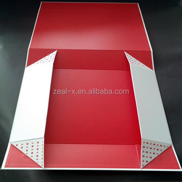 Luxury high quality folding cardboard paper matt packing for Wedding dress shipping box