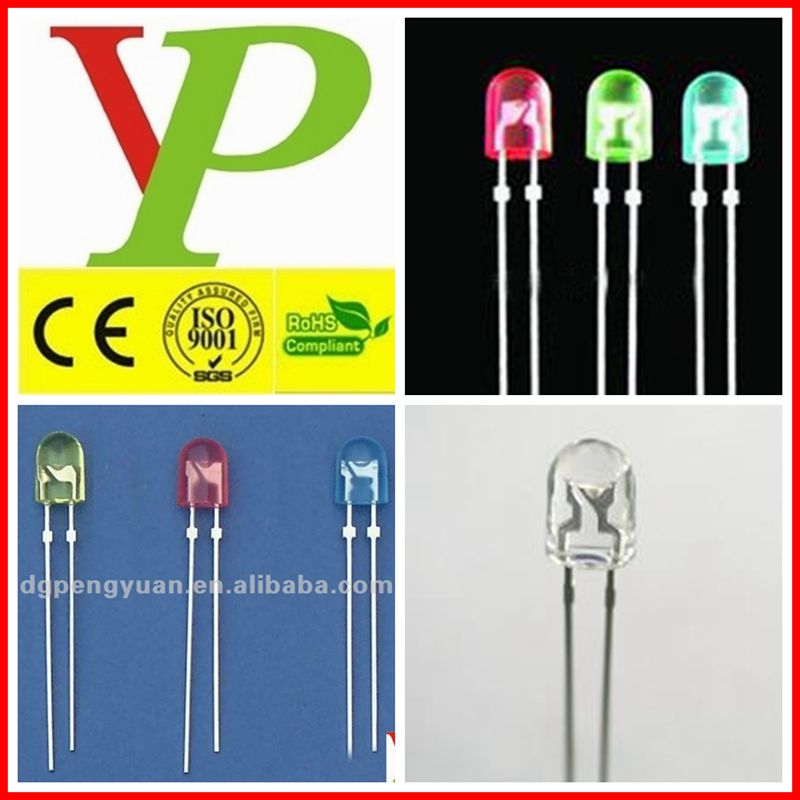 Green white blue yellow red 3mm oval led diode