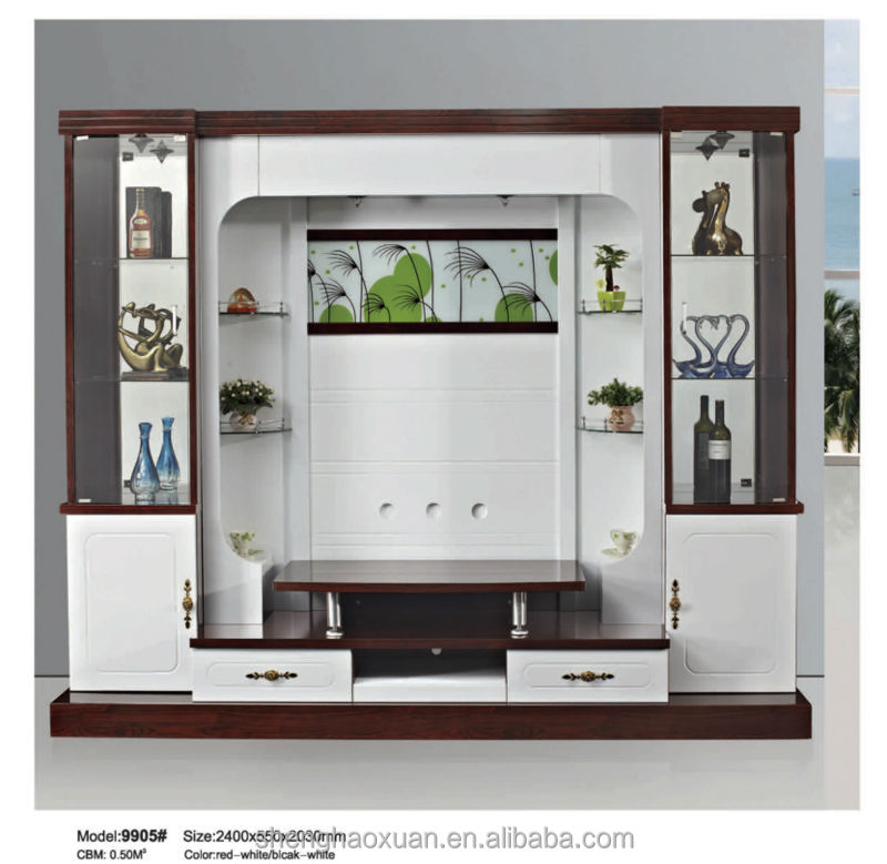 Shx Design Living Room Tv Set Furniture 9905# Led Tv Wall