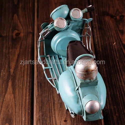 Promotion gift handmade antique motorcycle model for home decoration