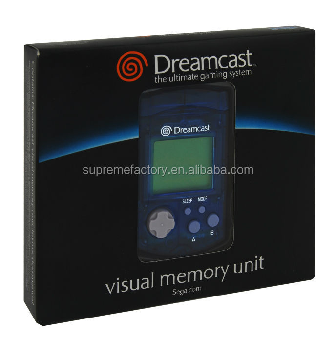 Visual Memory Unit for SEGA Dreamcast Clear Blue