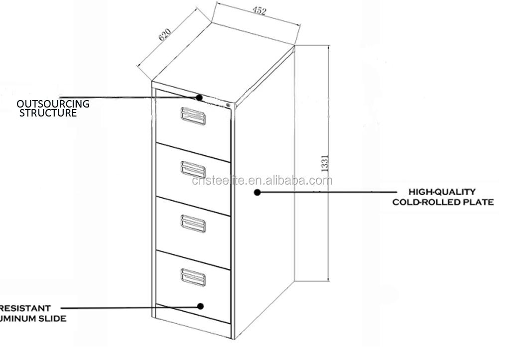 wood 4 drawer file