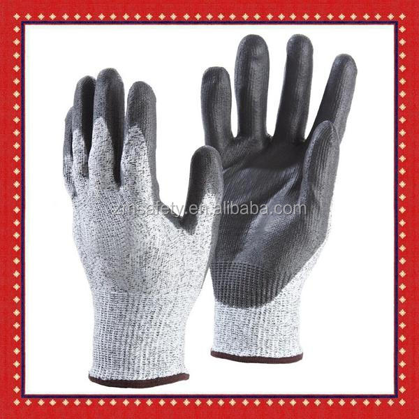 Cheap Level 5 PU Coated Puncture Slash Cut Protection Anti Cut Gloves Cut Proof Gloves for Glass Industry Safety