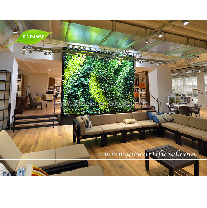 GNW GLW047 Home Hotel Artificial Boxwood Hedge Garden Fake Green Walls  Wholesale