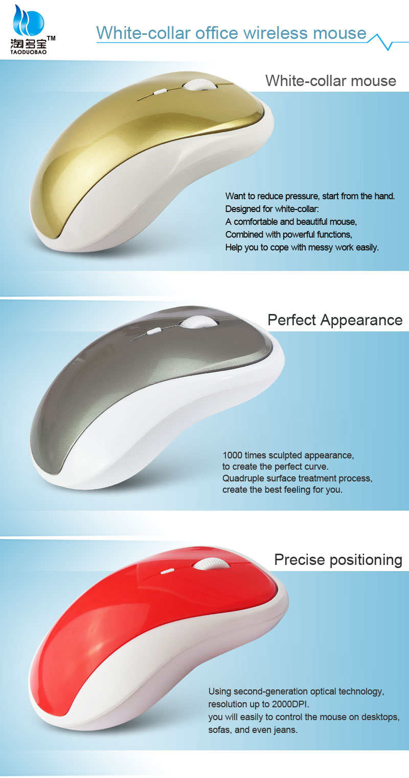 Promotion!!! novelty energy saving optical 2.4g usb nano receiver computer wireless mouse