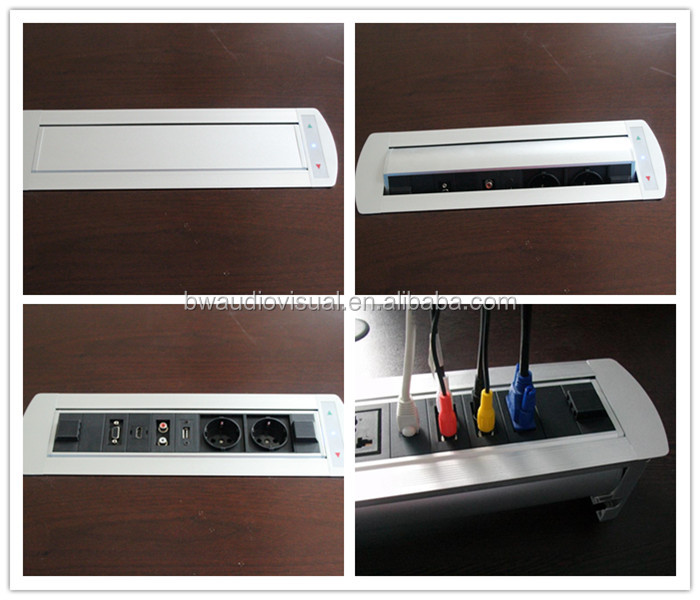 Bw t66 multimedia rotating desk switch socket flip up for Table header rotate th rotate 45