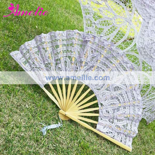 A0101 Wholesale Cotton Stock Market Spanish Wooden Hand Fans