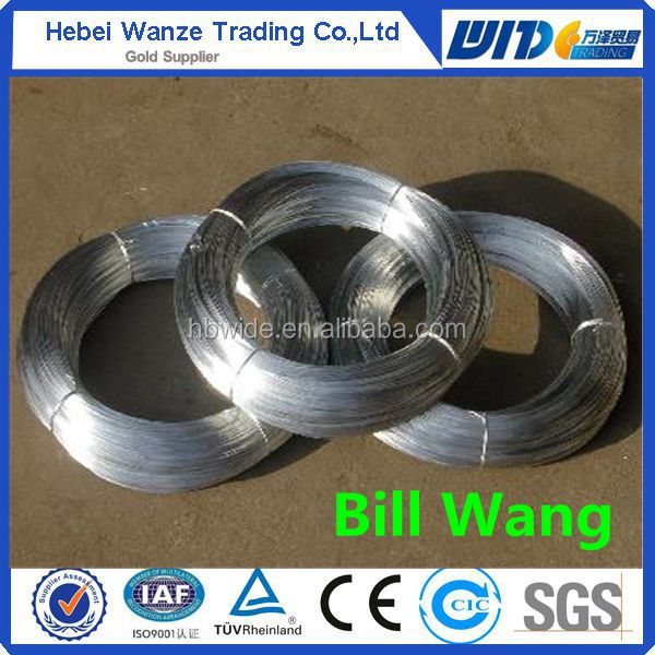 Low carbon steel electric galvanized iron wire