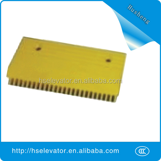 escalator yellow strip, elevator yellow border, escalator comb plate