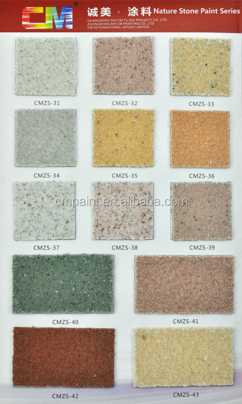 CMZS-22 Waterborne acrylic resin waterproof exterior natural stone wall paint