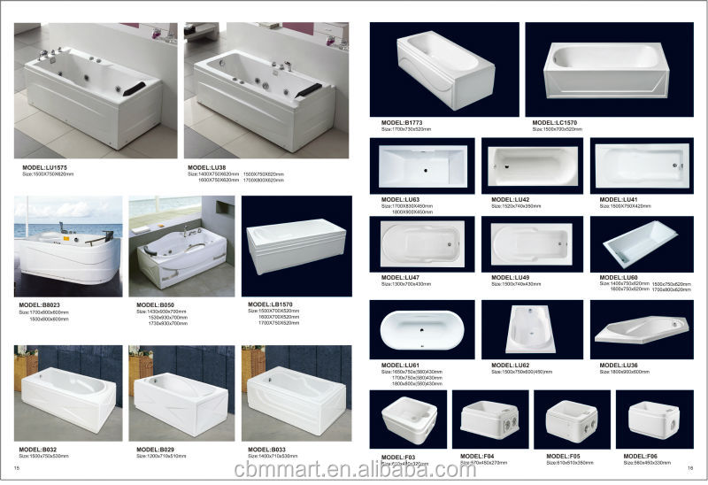 Hign quality luxury bathtub triangle shaped bathtubs with headrest