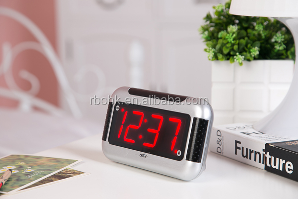 Red LED Large Display Digital Clock For Elderly