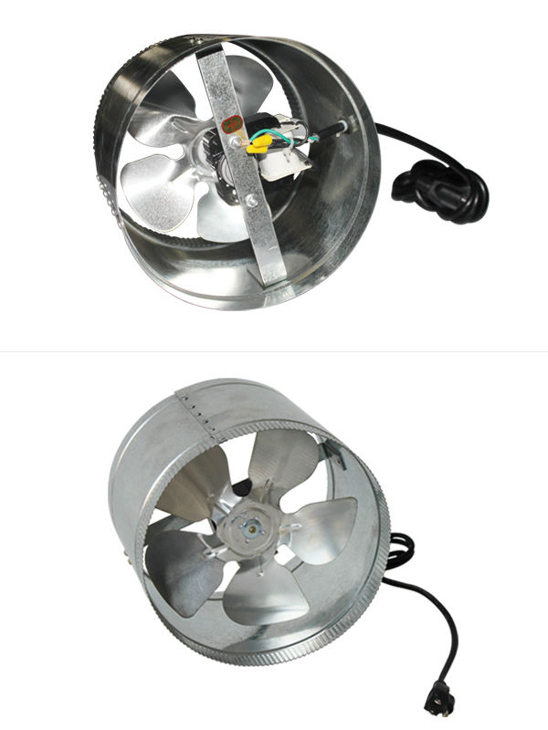 "HORTIKING Silent Stainless Steel Reversible 6"" Inline Duct Fan"