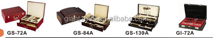 130Pcs Cutlery Set with Wooden Box, Travel Cutlery Set