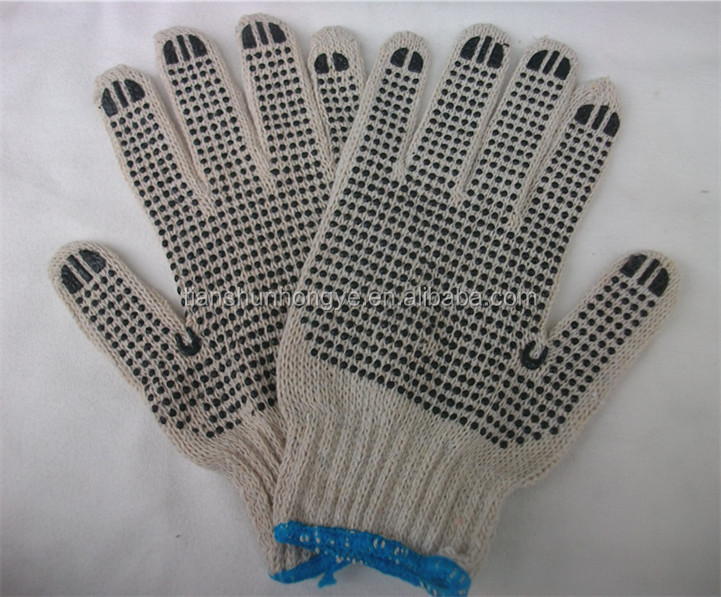 PVC dotted cotton gloves white work gloves