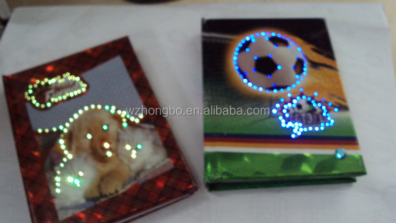 Flashing Notebook with LED lights