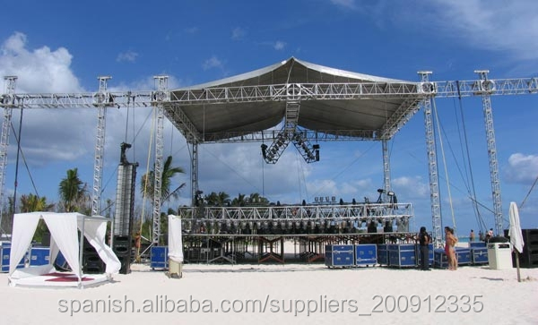 beam of truss equipment used in outdoor performances