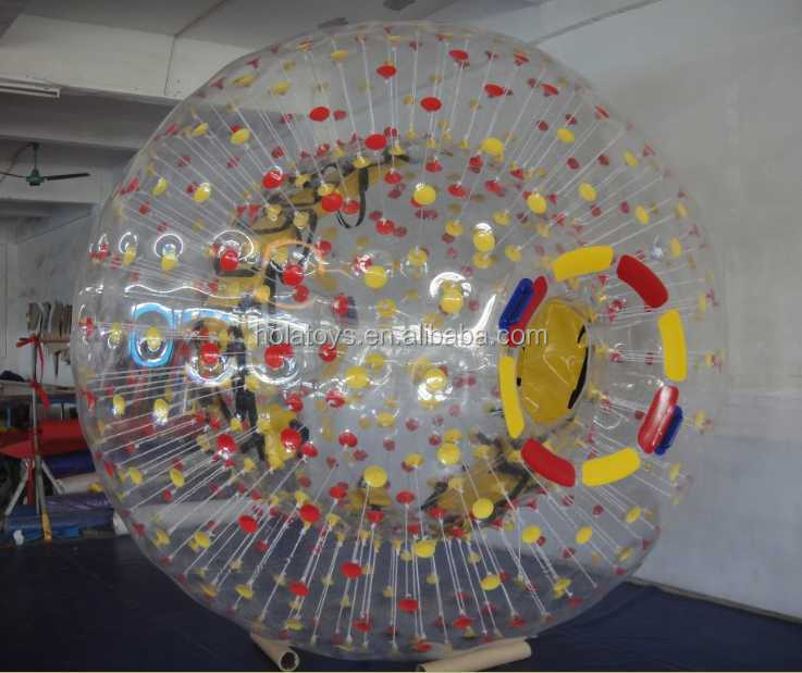 Hola inflatable zorb ball price/inflatable human balloon/human sized hamster ball