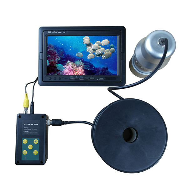"20M Cable Underwater Fishing Camera Fish Finder SONY CCD 700 TVL 7"" TFT LCD 14pcs White LED Rotate 360 Degree"