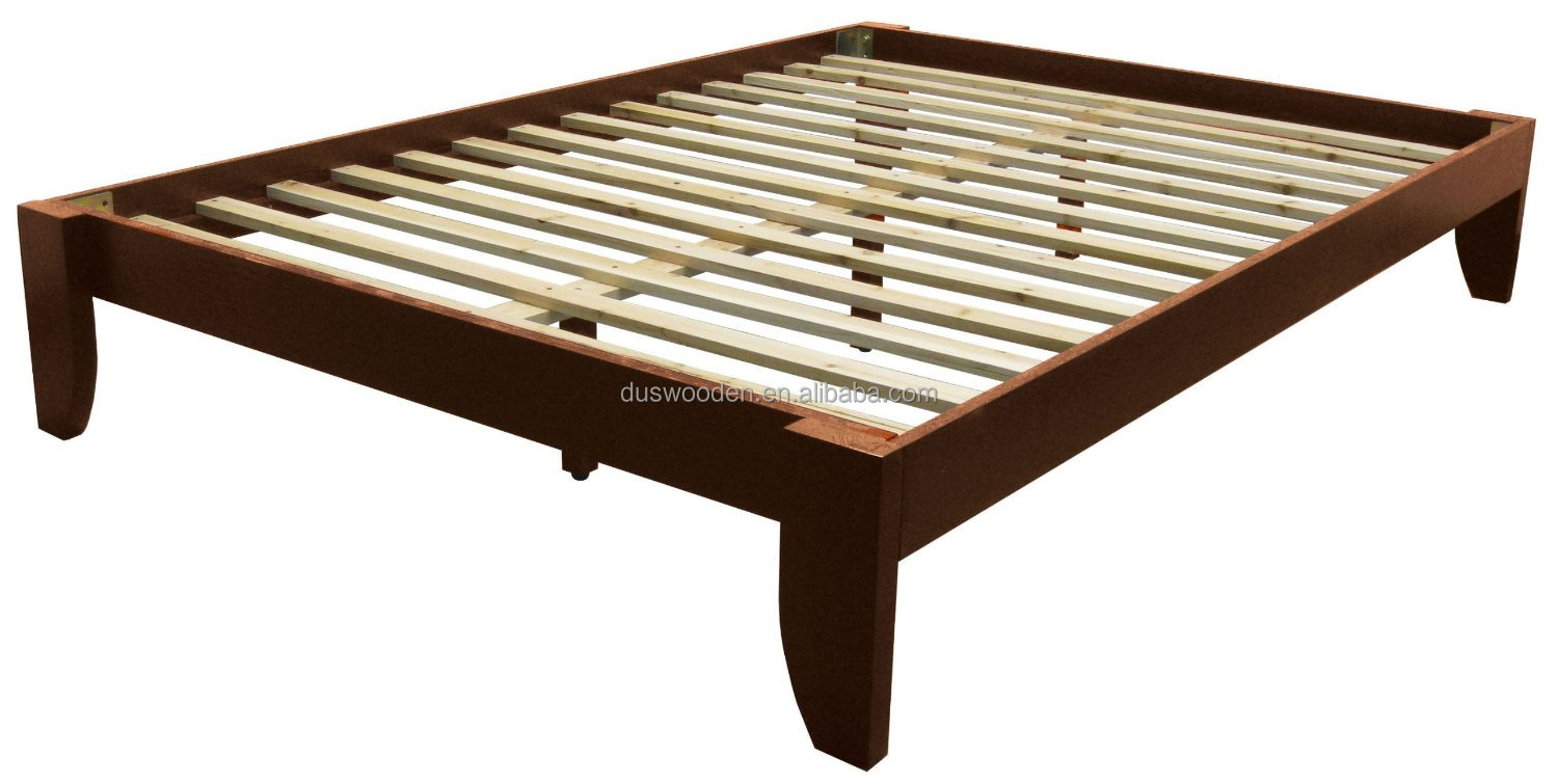 2014 Solid Wood Tapered Leg Queen Size Platform Bed Buy