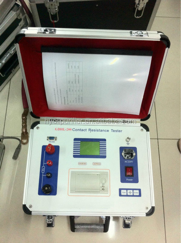 GDHL Series Loop Resistance Contact Resistance Tester for Circuit Breaker