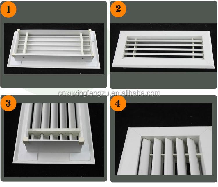 Ventilation return air grille pvc louver windows buy pvc for Grille ventilation fenetre pvc