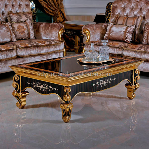 0061 Italian Wood Carved Golden Classic Living Room Furniture