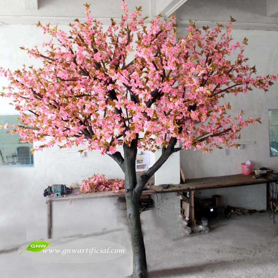 GNW BLS1507-15 Mix Color 2015 new products Artificial Cherry Blossom Trees for luxury wedding gate decor
