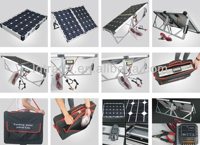 80w Foldable Solar Panel With Corner Protection For 12v