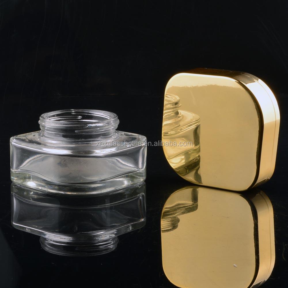 Wholesale custom 50g unique square cosmetic organic cream for Custom cosmetic jars