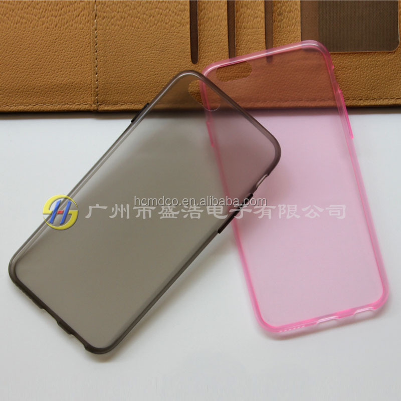 0.58mm ultra-thin glossy design TPU cellphone cover case sets for Apple for iphone 6 i6 4.7